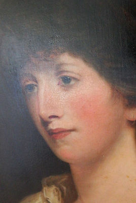English School Portrait of a Young Lady, 1800, Oil on Canvas