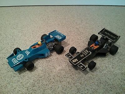 Vintage Scalextric Tyrell and JPS Lotus Slot Cars