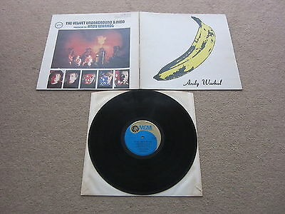 THE VELVET UNDERGROUND & NICO ANDY WARHOL 1st MGM PRESS LP RECORD 1967 PSYCH
