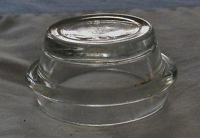 Vintage Anchor Flat Top Clear Glass Apothecary Bottle Stopper with Wide Plunger