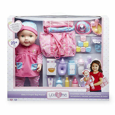 You & Me Baby Doll and Changing Bag Set - Can collect London W1
