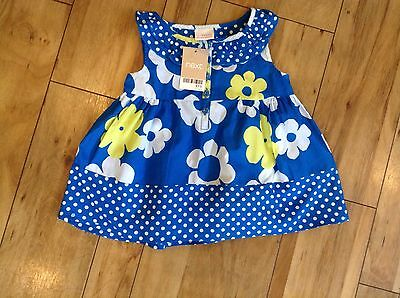 Next Floral Tunic Top Age 2-3 Years - New With Tag