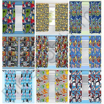 Disney & Character Boys Curtains Bedroom Marvel Paw Patrol Pokemon Thomas & More