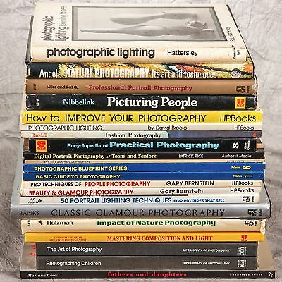 21 VTG Photography Books 1970's 1980's Educational Guides Lighting Portraits Lot