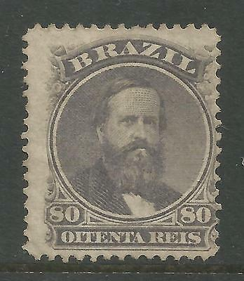 BRAZIL. 1866. 80 Reis Purple Grey. SG: 46a. Unused without gum.