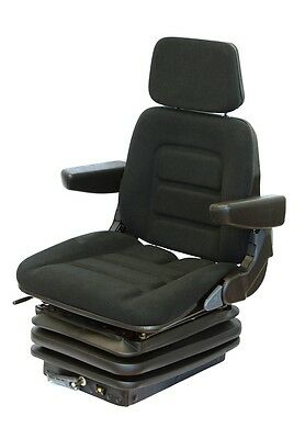 New Holland Tractor seat Fabric Black Tractor Seat with armrests und Headrest