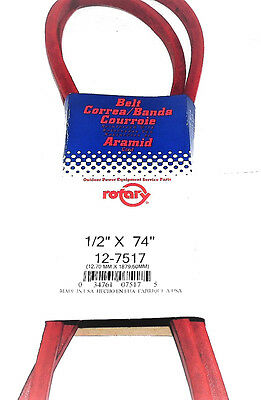 """7517/4L740 Rotary Belt (1/2""""X74"""") Compatible With JOHN DEERE: M43820, M71135"""