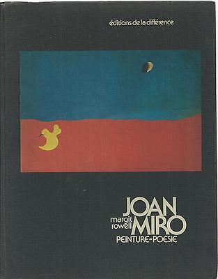 JOAN MIRO PEINTURE POESIE  Margit Rowell  Painting Poetry in French  Ex++ 1972