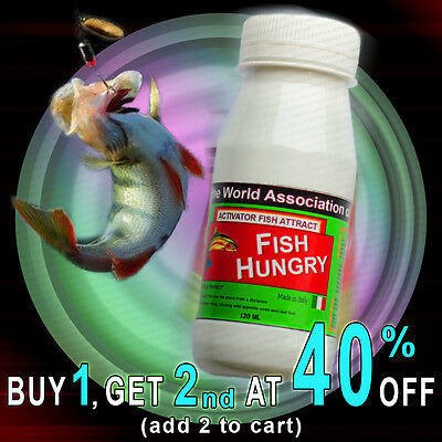 FISH HUNGRY Bait Additive Activator Fish Attract Fishing 120 ml. SUPER SALE!
