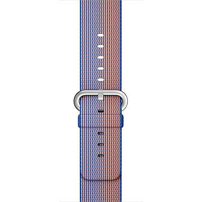 Genuine Apple Watch Woven Nylon Band (38mm, Royal Blue) MM9N2AM/A - New Other!