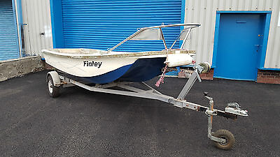 13ft Dell Quay Dory boat with road trailer