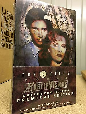 X Files Full Box Topps Mastervisions Large Art Trading Cards Complete Set Sealed