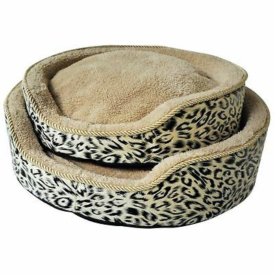 Kingfisher Cat Pet Bed Cushion Puppy Soft Fleece Cosy Basket with Luxury Cushion