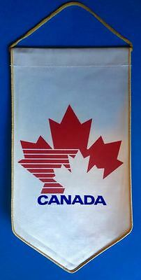 Vintage Rare 1984 Team Canada Winter Olympic Hockey Tournement Banner Flag