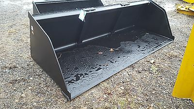 """New 96"""" Skid Steer/Tractor Snow/Mulch 8' Bucket - for Bobcat, Case, Cat & more"""