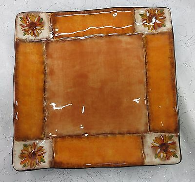 Tuscan Sunflower Dinner Plate by Clay Art- New