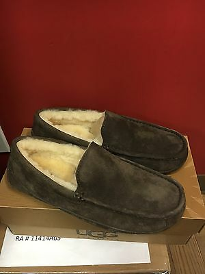 Ugg Ascot 5775 Espresso Sizes 8  Avail $155 Men's Moccasin Slippers Shoes