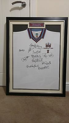 Authentic Signed Framed West Ham Football Shirt - 1980 Cup Winners