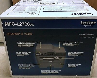 Brother MFCL2700DW Mono Laser All-In-One Printer Scan Fax AIO 2700dw l2700dw