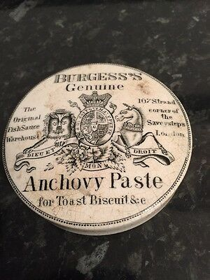 Pot Lid Burgess Anchovy Paste Over 100 Years Old