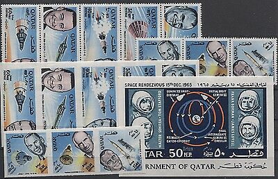 From 0.99 Qatar 1966 Year Space Ovpt Sets Perf+Imperf+Ss Cat Val 200.00 Mnh
