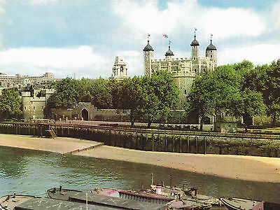 The Tower Of London 1950s Vintage Colour Print # 152168