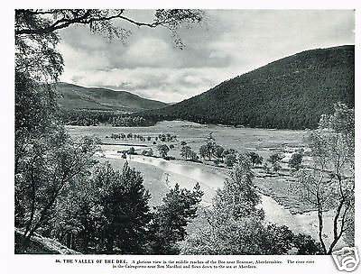 The Valley Of The Dee Vintage 1950's Print #420145