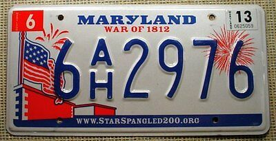 Maryland 2013 Graphic License Plate