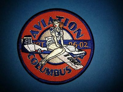Rare Aviation Columbus US Air Force 1 USAF Iron On Jacket Hat Patch Crest