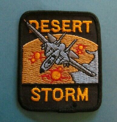Operation Desert Storm American US Airforce Fighter Plane Pilot Patch Crest C