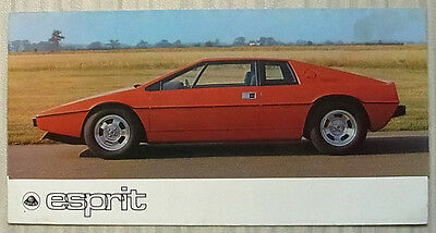 LOTUS ESPRIT Car Sales Brochure c1976