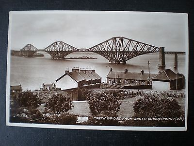South Queensferry & Forth Bridge West Lothian RP postcard