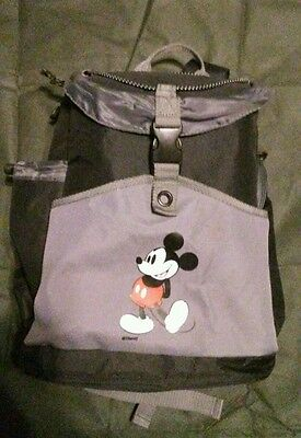 Disney MICKEY MOUSE Black & Gray Canvas  Insulated Cooler  Backpack