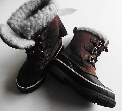 Girls Boys Walking Hiking Boots Uk 11 Eu 29 Bisgaard Wool Lined Natural New Tags
