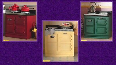 1:12 scale dolls house miniature small aga style stove 3 to choose from.