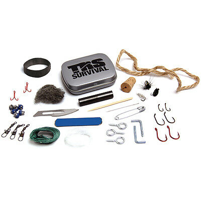 NEW Compact 37 Piece TRS Survival Kit With The Essentials For Makeshift Fishing