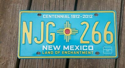New Mexico Centennial Expired License Plate # Njg * 266  Land Of Enchantment