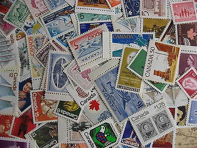 CANADA 80 different mostly MNH some higher FV stuff scattered, check them