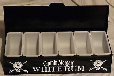 Captain Morgan Rum Condiment Tray - Fruit Holder...6 Compartments...NEW