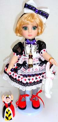 "Alice in Wonderland Patsy Tonner 10"" Doll + White Rabbit + Queen of Hearts"
