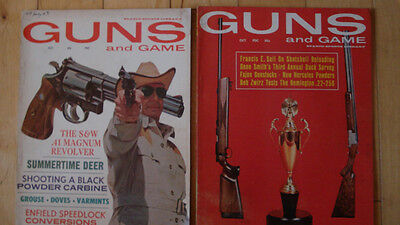 Vintage Guns and Game magazines Oct 1964 and Oct 1965