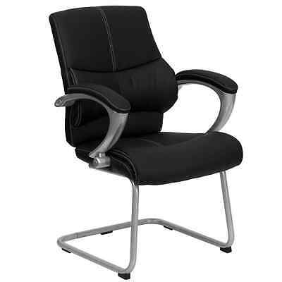 Flash Furniture Black Leather Executive Side Chair Office Home Table Accessories