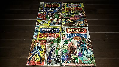 Amazing Adventures Inhumans And Black Widow 1970 #2 Fine #3 Vg+ #5 Fine #6 F/f+