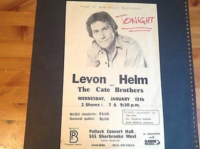 LEVON HELM AND THE CATE BROTHERS VENUE POSTER 1/13/82 McGILL UNIVERSITY MONTREAL