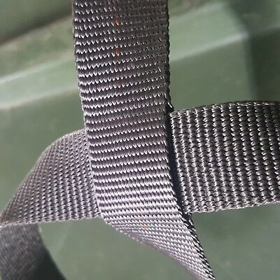 "Gray Military 1"" Inch Wide Nylon Webbing 3,500 lb Mil-Spec 100' 100 FOOT ROLL"
