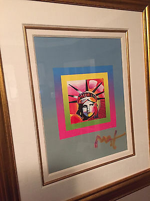 Liberty Head on Blends Acrylic Painting by Peter Max