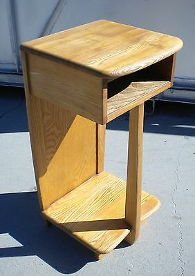 Vintage Modern Nightstand Telephone Table Style of Heywood Wakefield