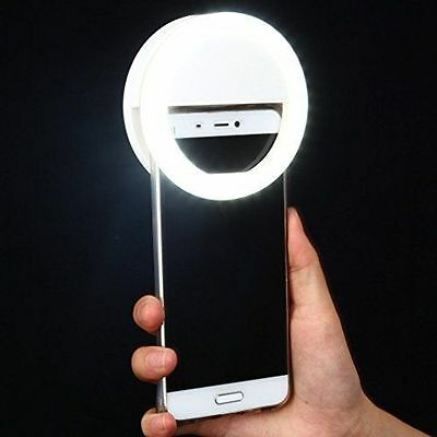 Clip on Selfie Ring Light Rechargable Battery with 36 LED For SmartPhone