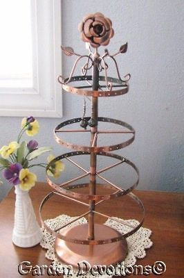 Spinning ROSE COPPER EARRING DISPLAY Holds 78 pair!