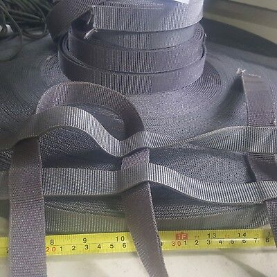 "Gray Military 1"" Inch Wide Nylon Webbing Heavy Duty 3,500 lb Mil-Spec 10 YD ROLL"